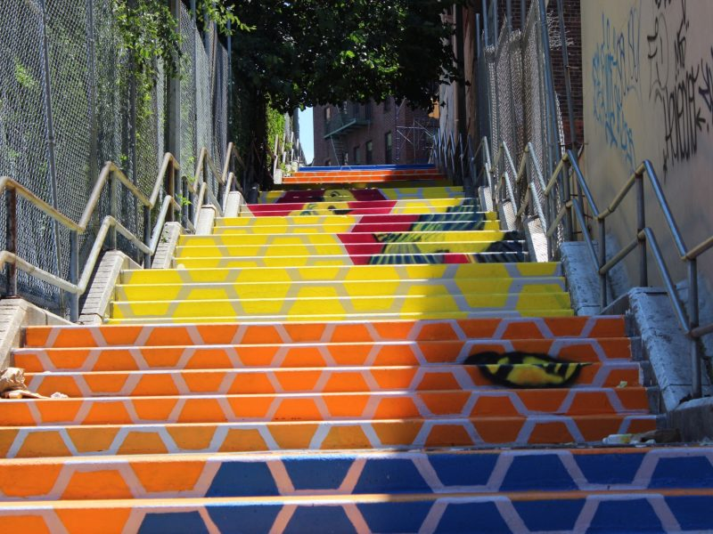 Two New Bronx Murals Encourage Pedestrians to Take the Stairs, NEXTCITY