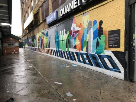 ArtBridge, Myrtle-Wyckoff Pedestrian Deaths Mural, Ridgewood Post