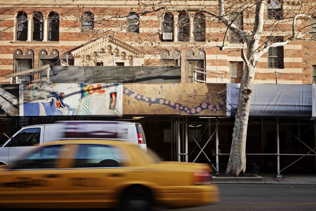 Artistic neighborhood face-lift, am New York