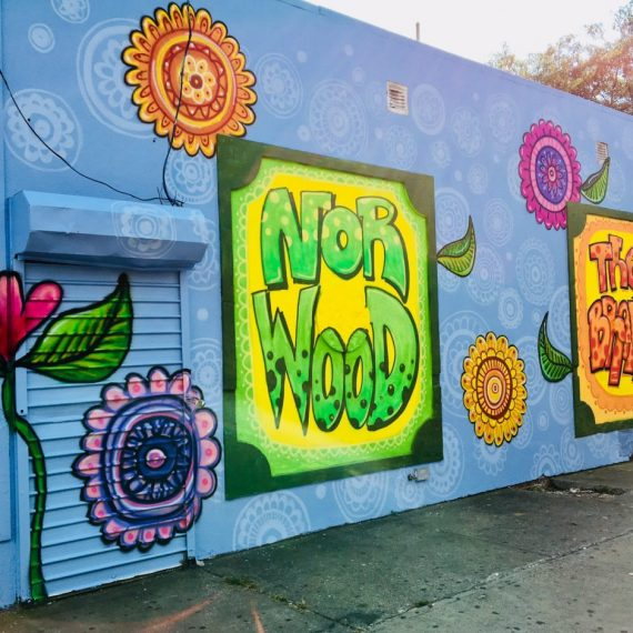 Norwood Mural by Laura Alvarez, ArtBridge