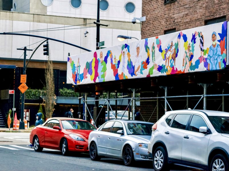 Mural of Intertwining Colors