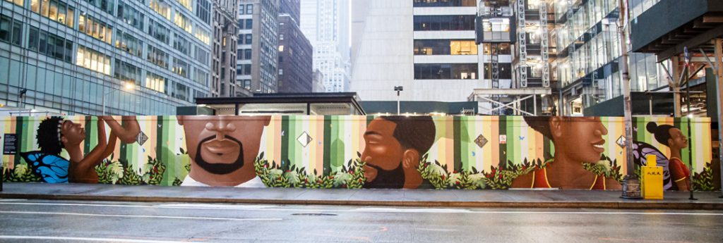 The full mural on 43rd Street