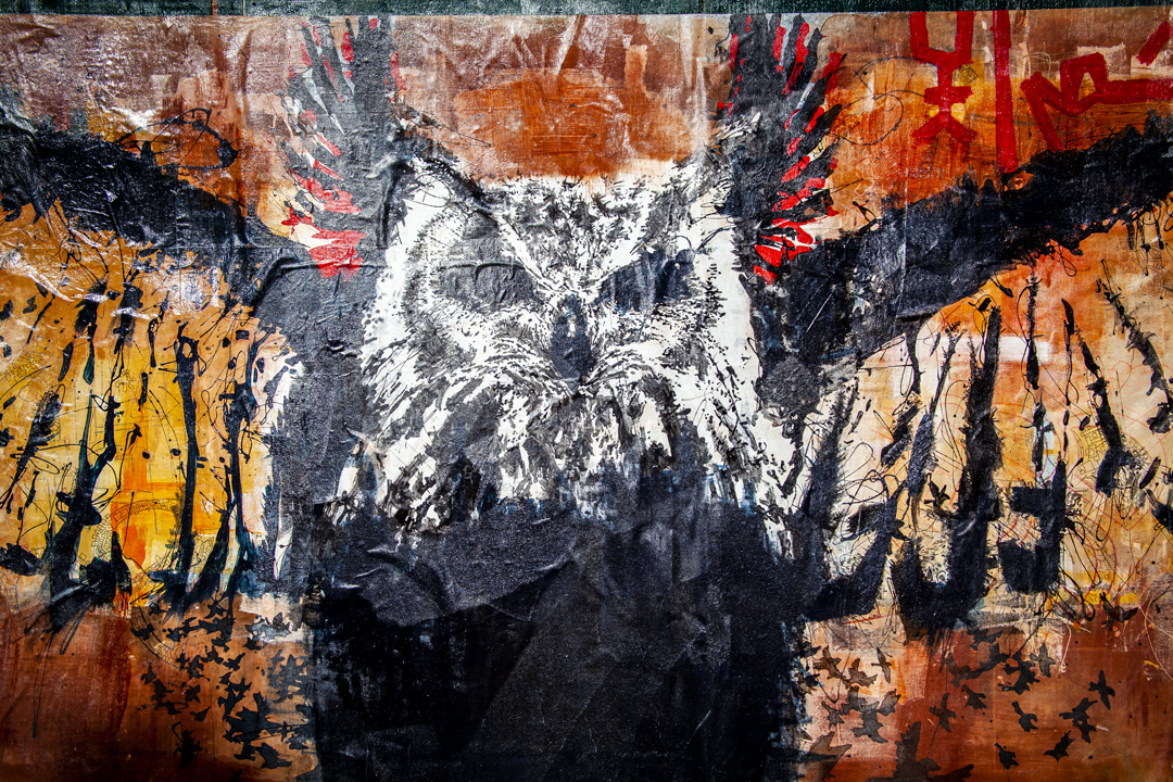 Voodo Fé's new mural, SOAR.