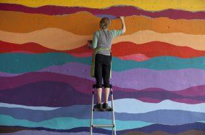 Ellie Balk painting