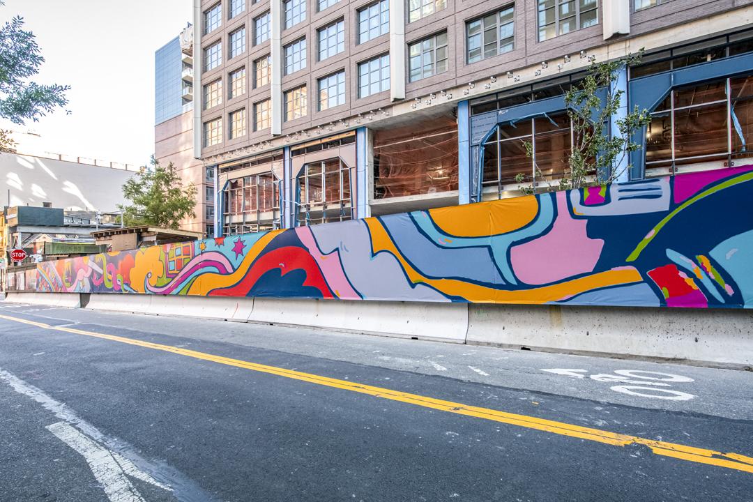Photo of Misha Tyutyunik's art at 85 Jay Street